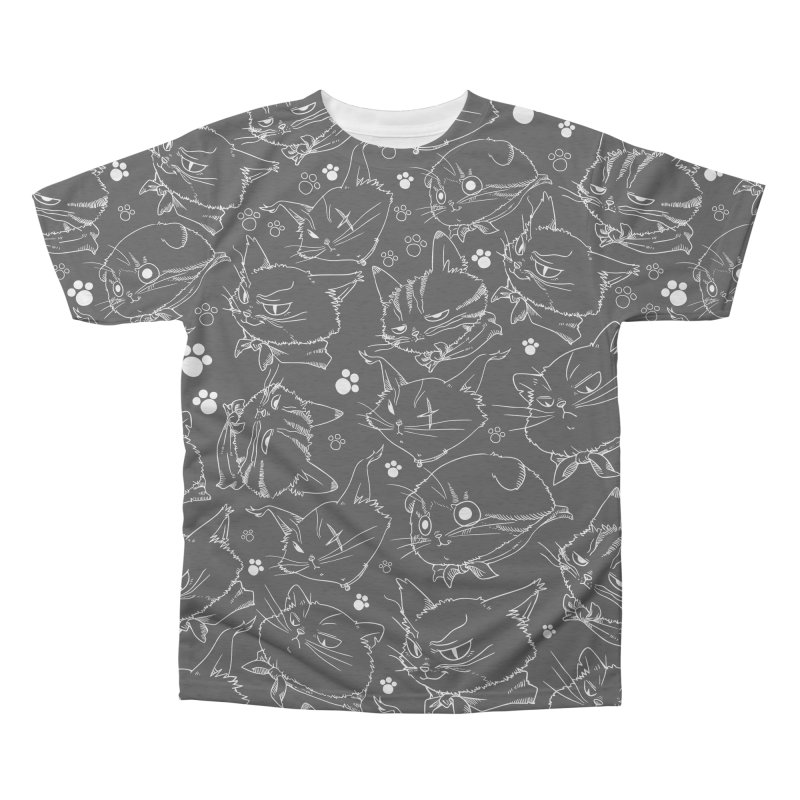 A Whole Bunch of Cats! (White) Men's Triblend All Over Print by Hound Picked Games