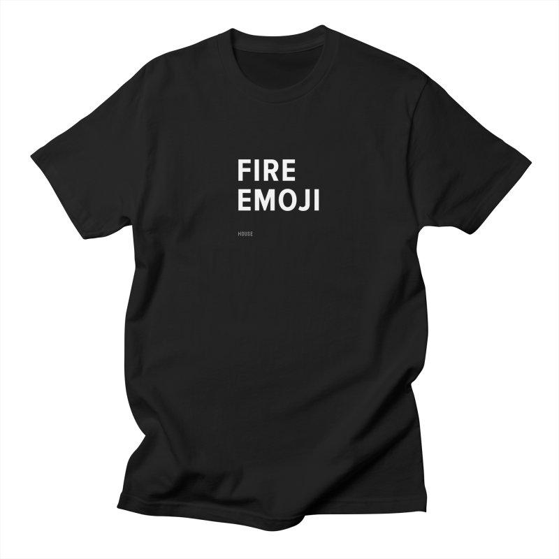 Fire Emoji Men's T-Shirt by HouseMade