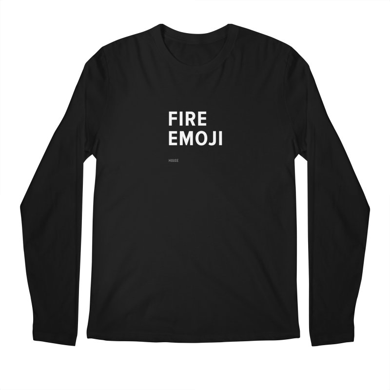 Fire Emoji Men's Regular Longsleeve T-Shirt by HouseMade
