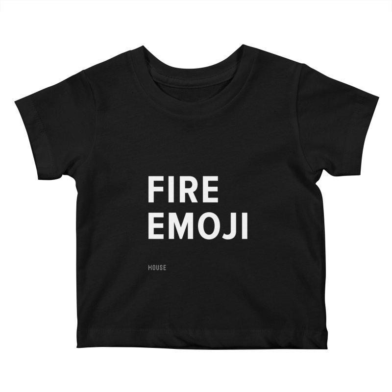 Fire Emoji Kids Baby T-Shirt by HouseMade