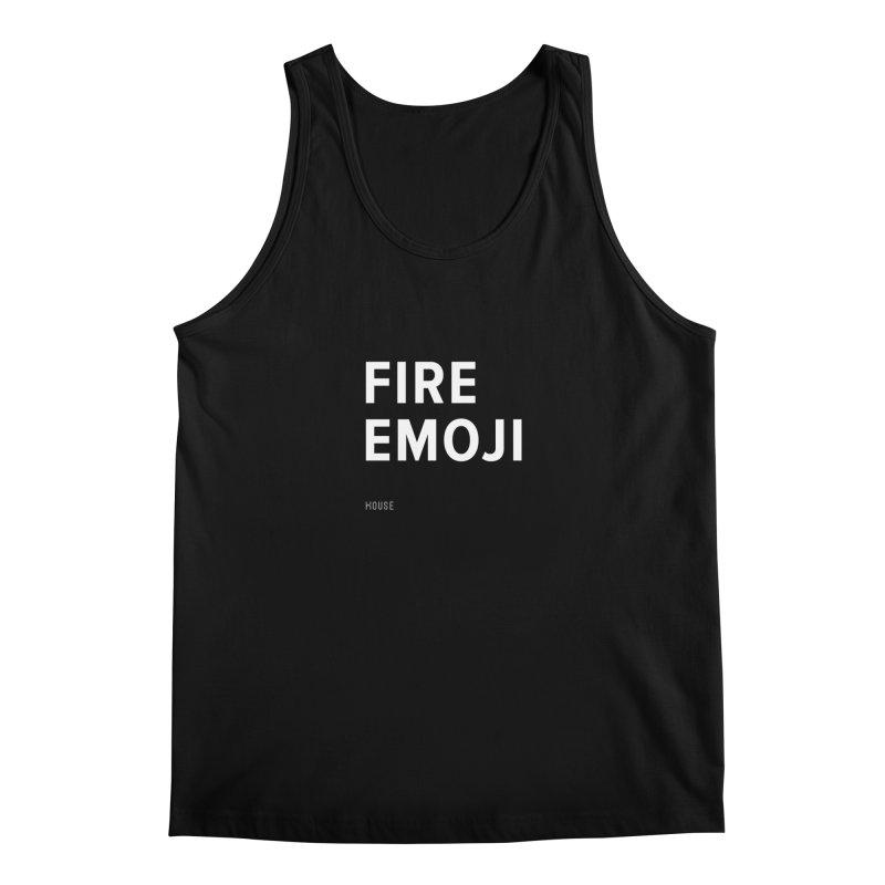 Fire Emoji Men's Tank by HouseMade