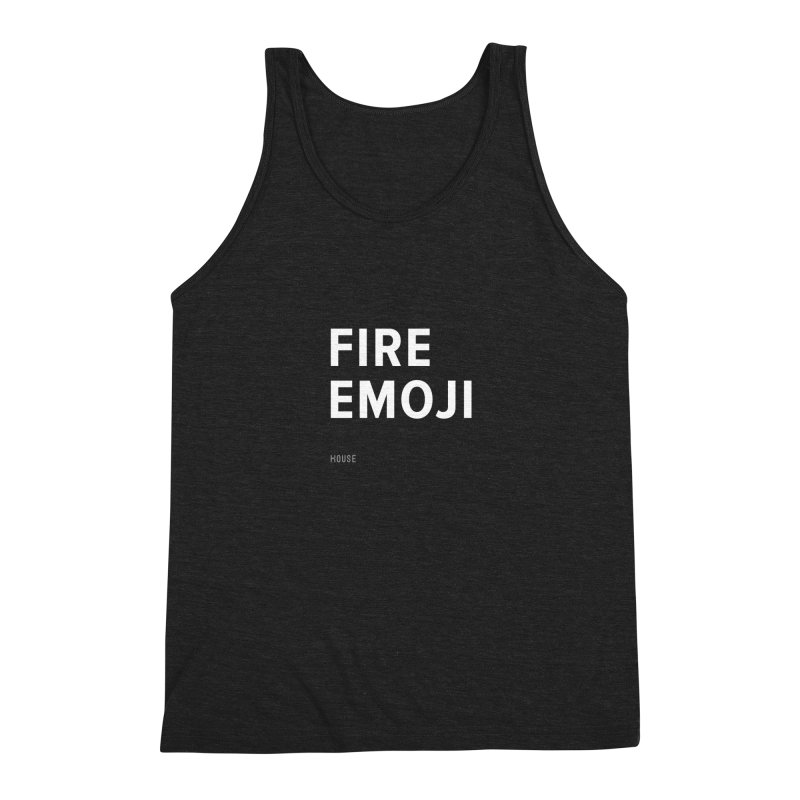 Fire Emoji Men's Triblend Tank by HouseMade