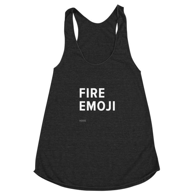 Fire Emoji Women's Racerback Triblend Tank by HouseMade