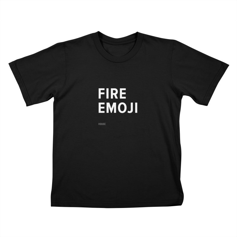 Fire Emoji Kids T-Shirt by HouseMade