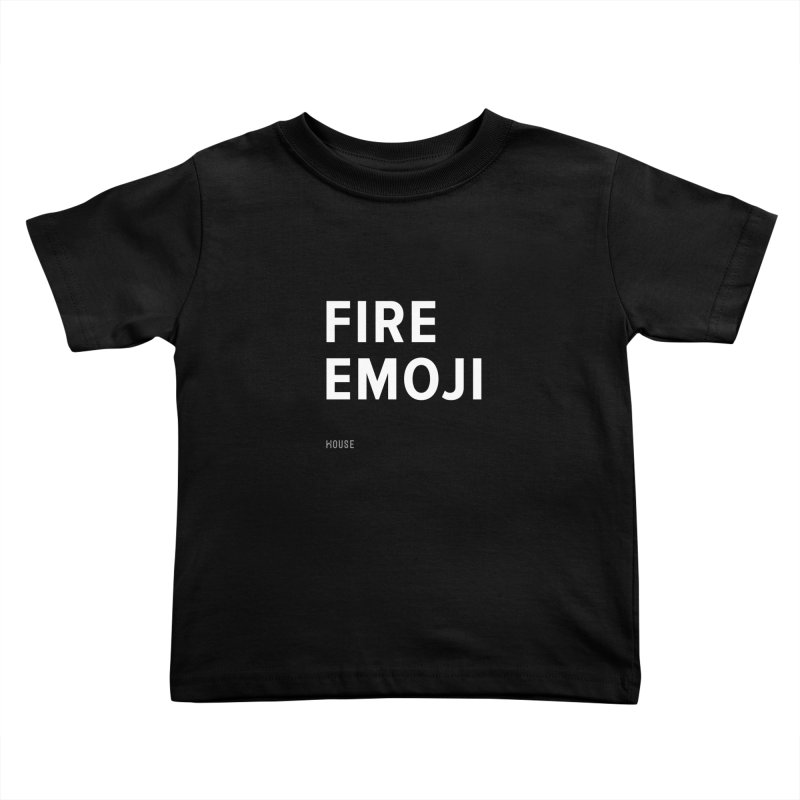 Fire Emoji Kids Toddler T-Shirt by HouseMade