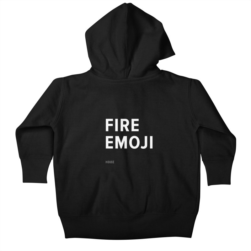 Fire Emoji Kids Baby Zip-Up Hoody by HouseMade