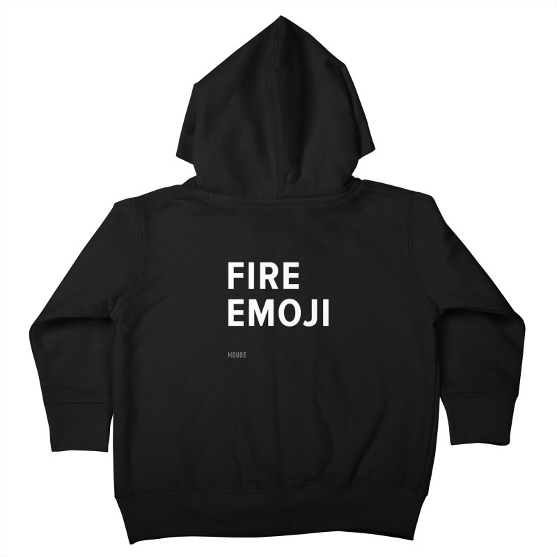 Fire Emoji Kids Toddler Zip-Up Hoody by HouseMade