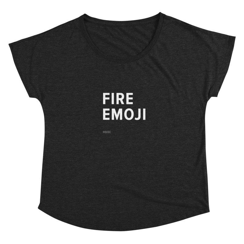 Fire Emoji Women's Dolman Scoop Neck by HouseMade