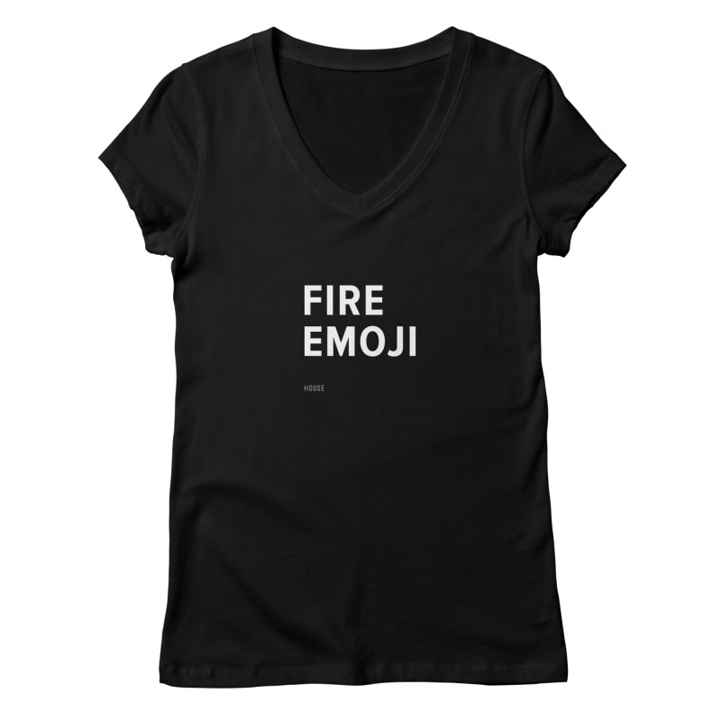 Fire Emoji Women's Regular V-Neck by HouseMade