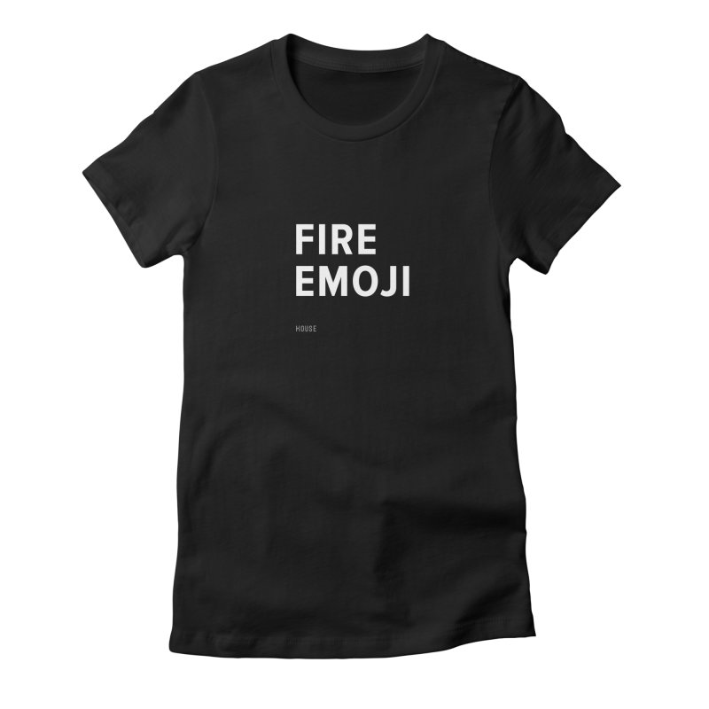 Fire Emoji Women's Fitted T-Shirt by HouseMade