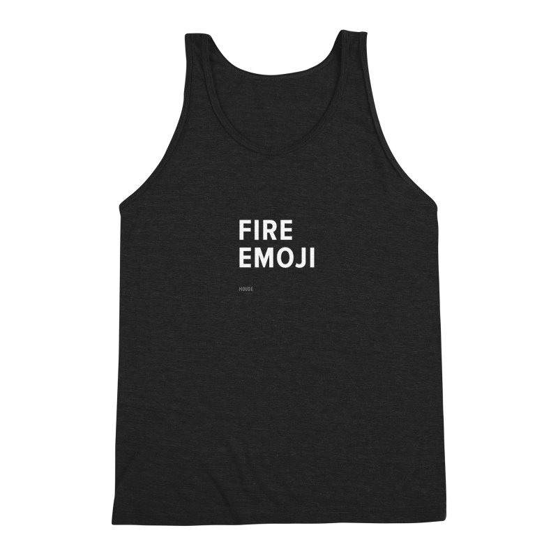 Fire Emoji Men's Triblend Tank by HouseMade