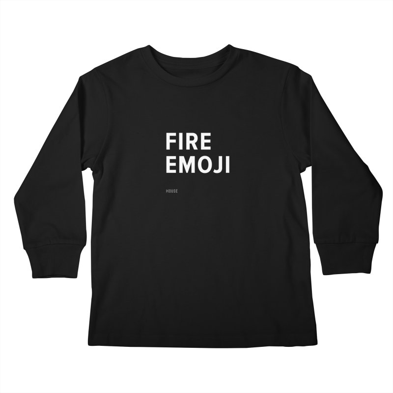 Fire Emoji Kids Longsleeve T-Shirt by HouseMade