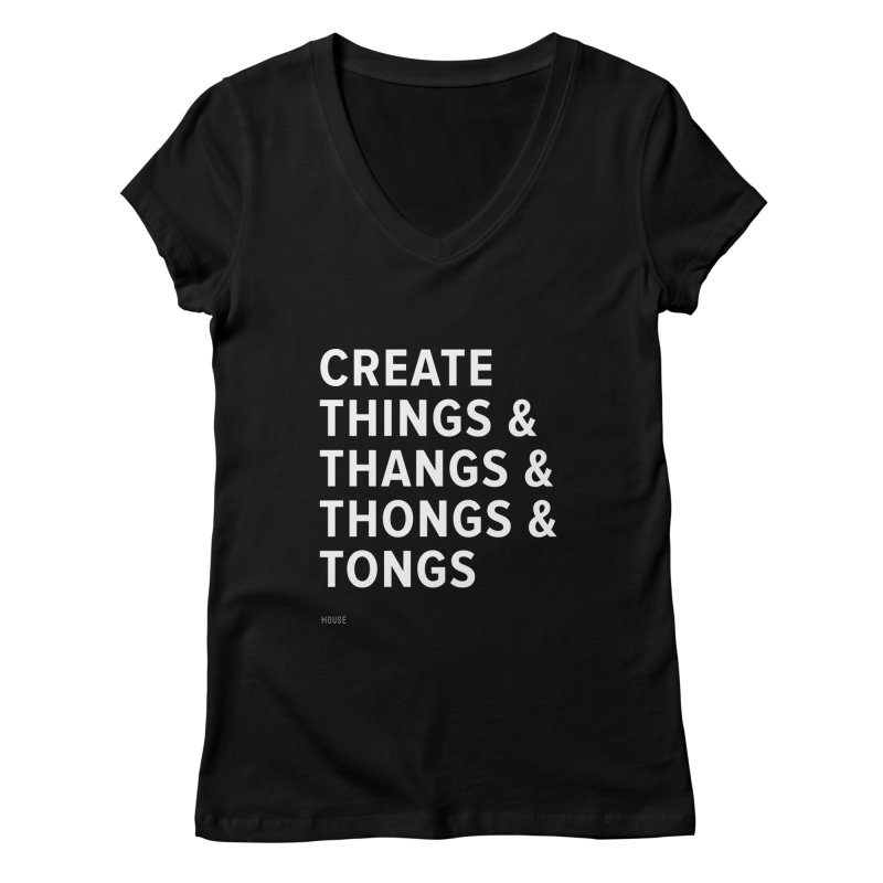 Create Things Women's Regular V-Neck by HouseMade