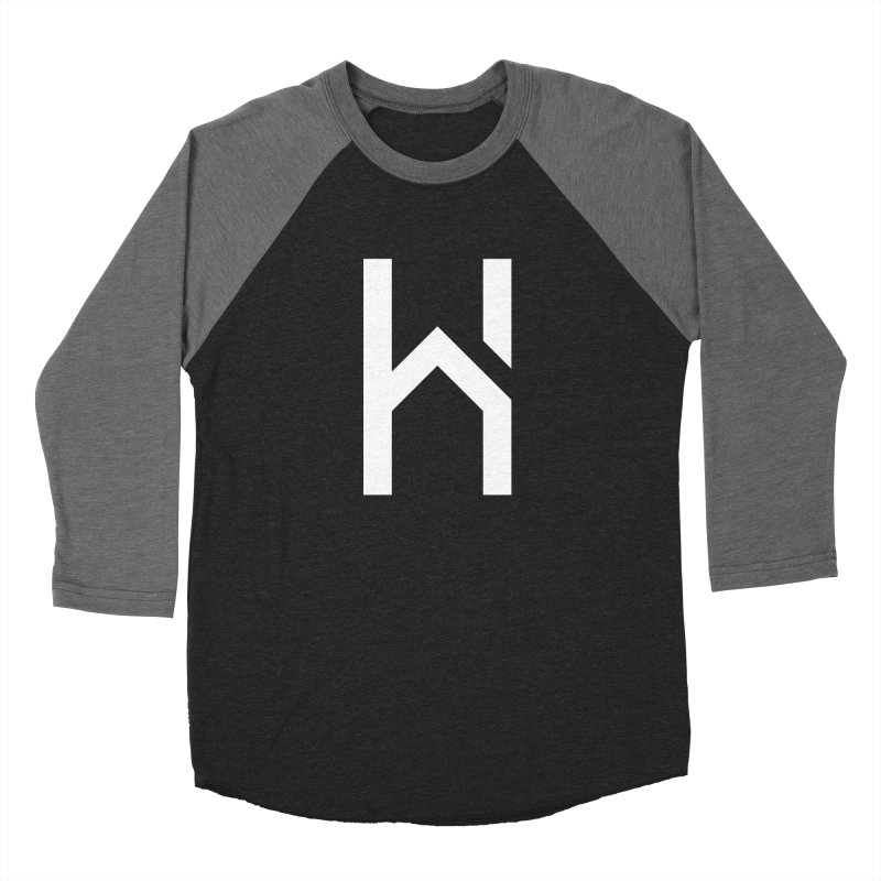 The H in House Women's Baseball Triblend Longsleeve T-Shirt by HouseMade