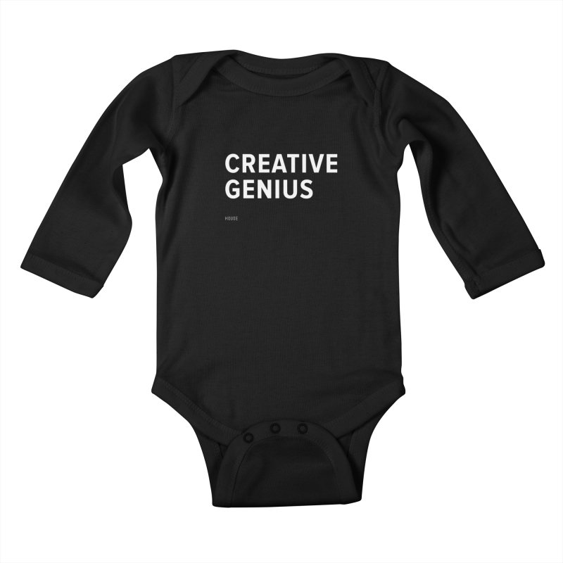 Creative Genius Kids Baby Longsleeve Bodysuit by HouseMade