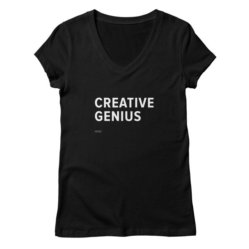 Creative Genius Women's V-Neck by HouseMade