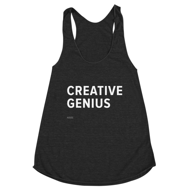 Creative Genius Women's Racerback Triblend Tank by HouseMade