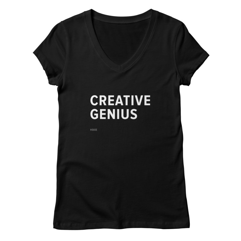 Creative Genius Women's Regular V-Neck by HouseMade