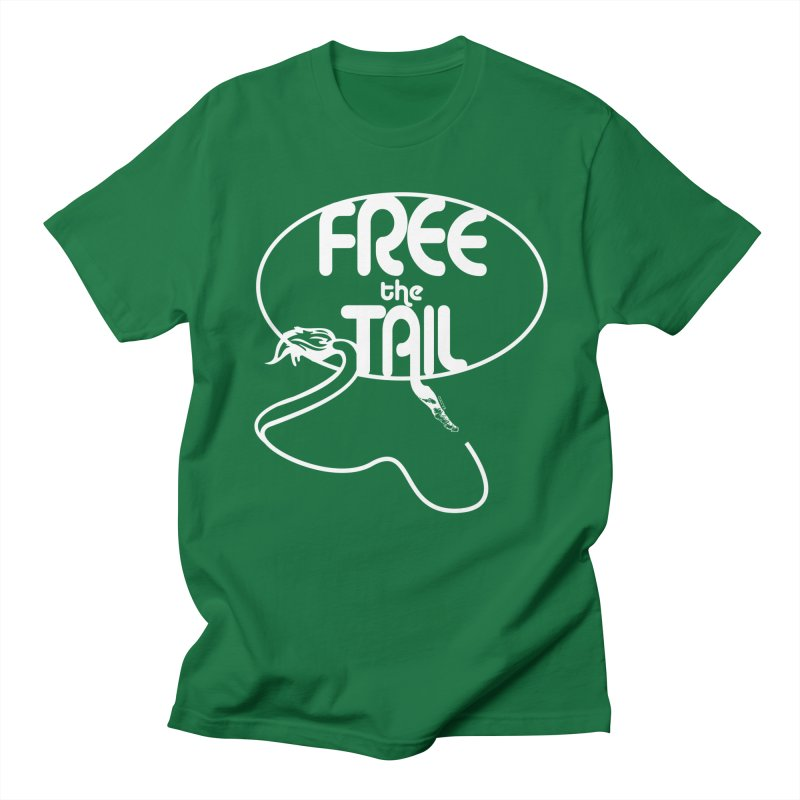 Free the Tail  in Men's Regular T-Shirt Kelly Green by howlingwithwolvesdesigns Artist Shop