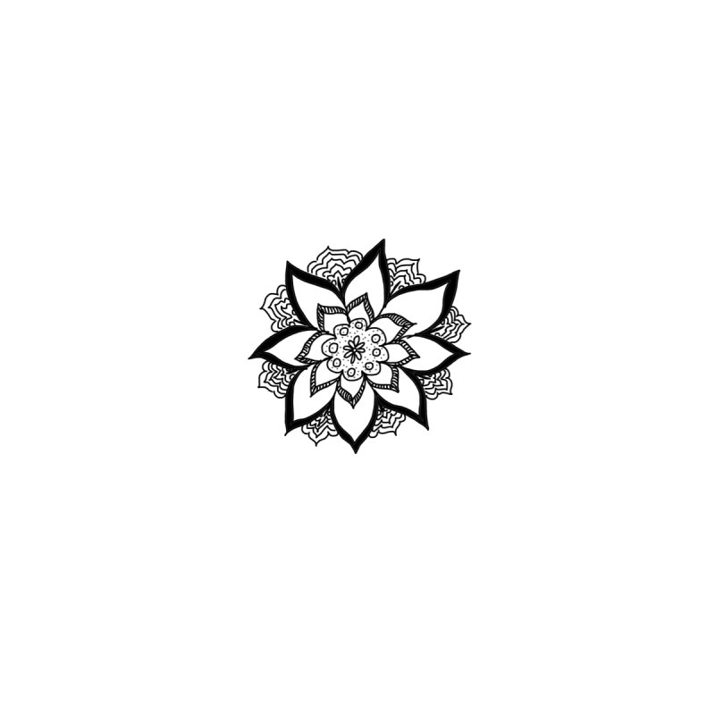 Doodle Flower Number 2 Without An Invisible Background