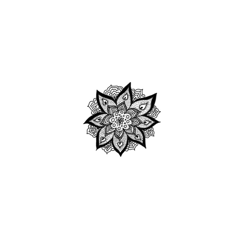 Doodle Flower Number 5 Without The Invisible Background