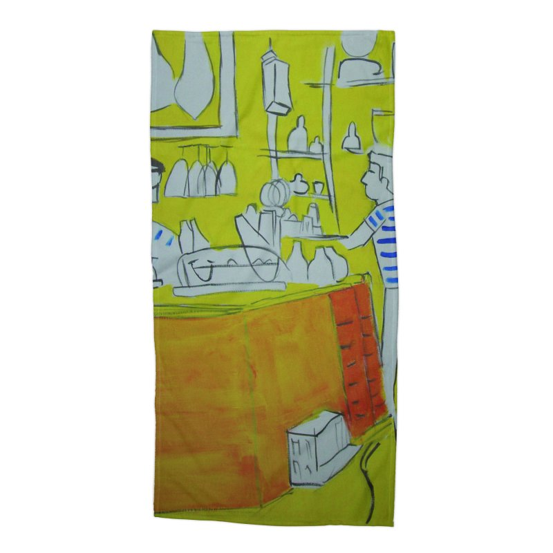 Barcelona Art Accessories Beach Towel by hrbr's Artist Shop