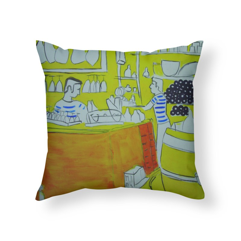 Barcelona Art Home Throw Pillow by hrbr's Artist Shop