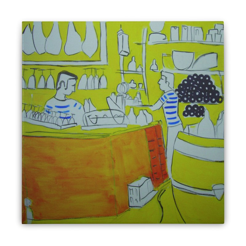 Barcelona Art Home Stretched Canvas by hrbr's Artist Shop