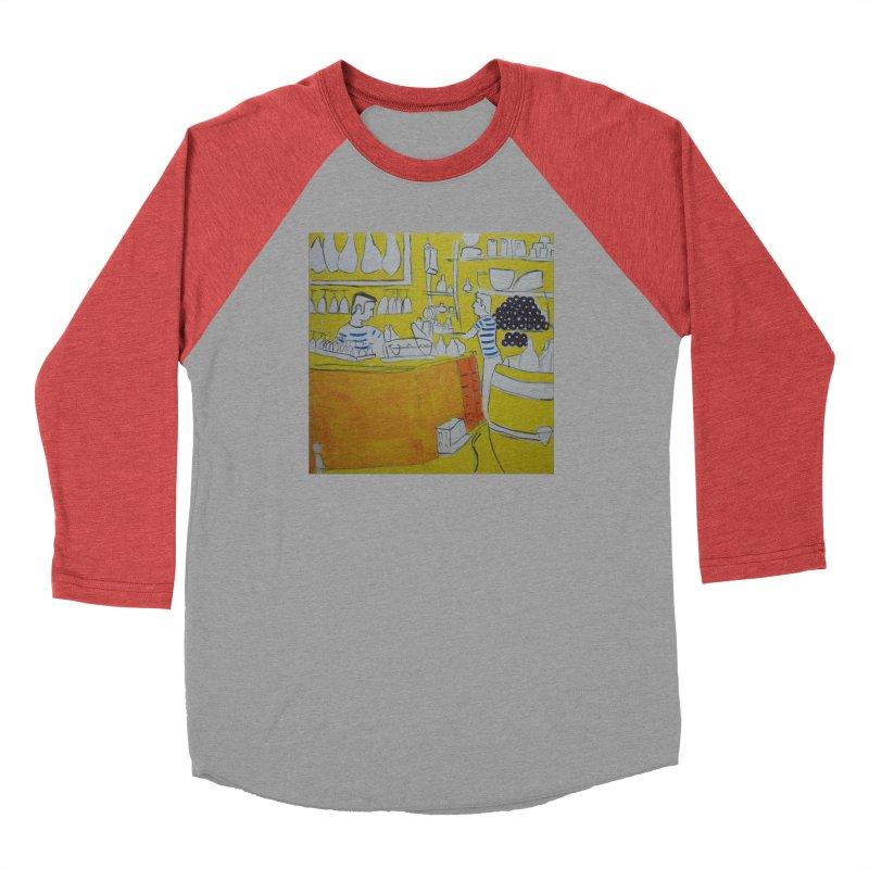 Barcelona Art Women's Baseball Triblend Longsleeve T-Shirt by hrbr's Artist Shop
