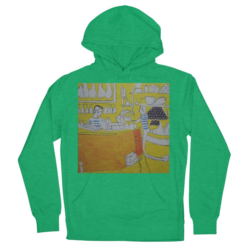 Barcelona Art Women's French Terry Pullover Hoody by hrbr's Artist Shop