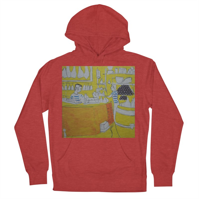 Barcelona Art Men's French Terry Pullover Hoody by hrbr's Artist Shop