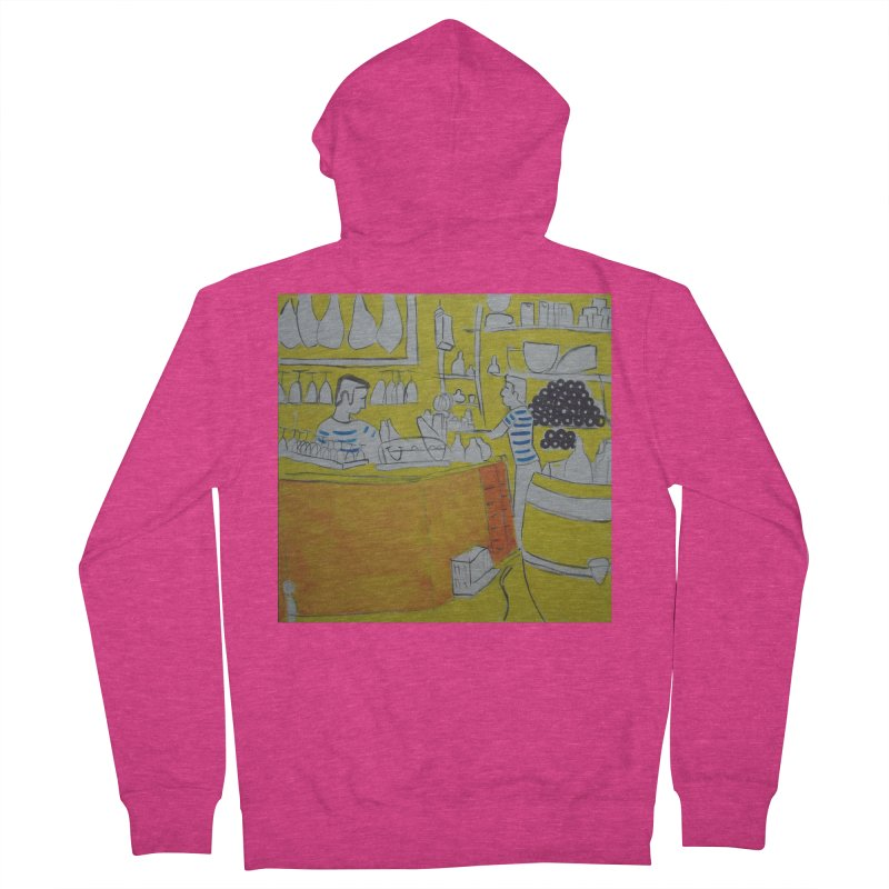 Barcelona Art Women's French Terry Zip-Up Hoody by hrbr's Artist Shop