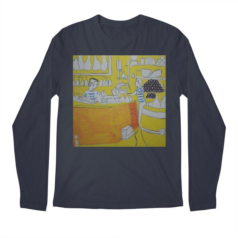 Barcelona Art Men's Regular Longsleeve T-Shirt by hrbr's Artist Shop