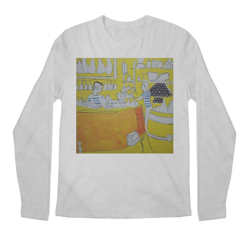 Barcelona Art Men's Regular Longsleeve T-Shirt by hrbr's Artist Shop