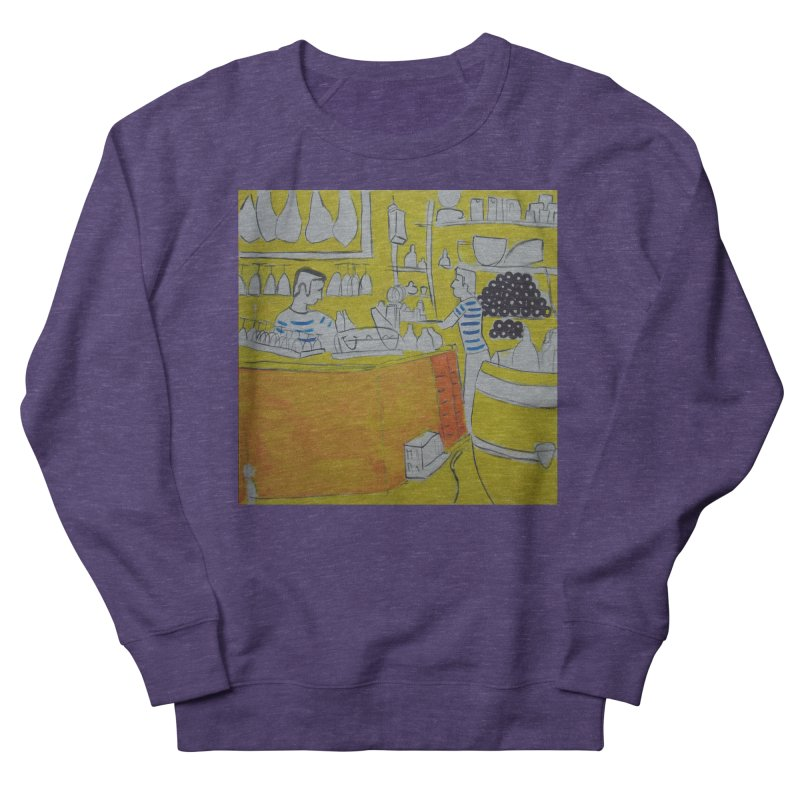 Barcelona Art Women's French Terry Sweatshirt by hrbr's Artist Shop