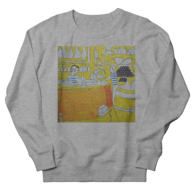 Barcelona Art Men's French Terry Sweatshirt by hrbr's Artist Shop