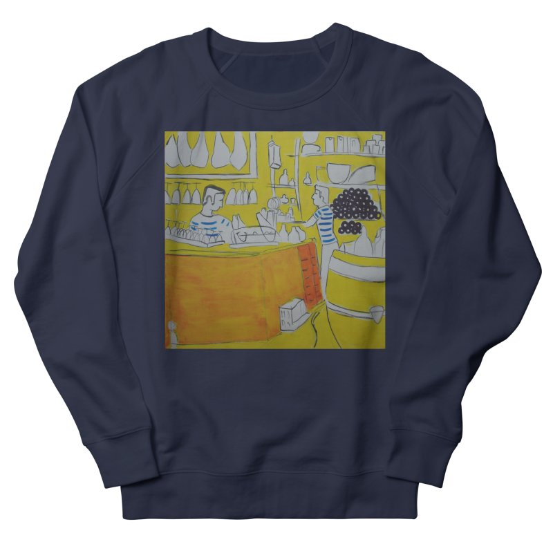Barcelona Art Men's French Terry Sweatshirt by hrbr's Artist Shop