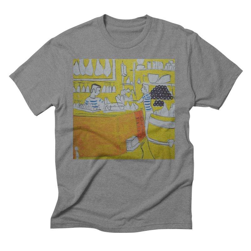 Barcelona Art Men's Triblend T-Shirt by hrbr's Artist Shop