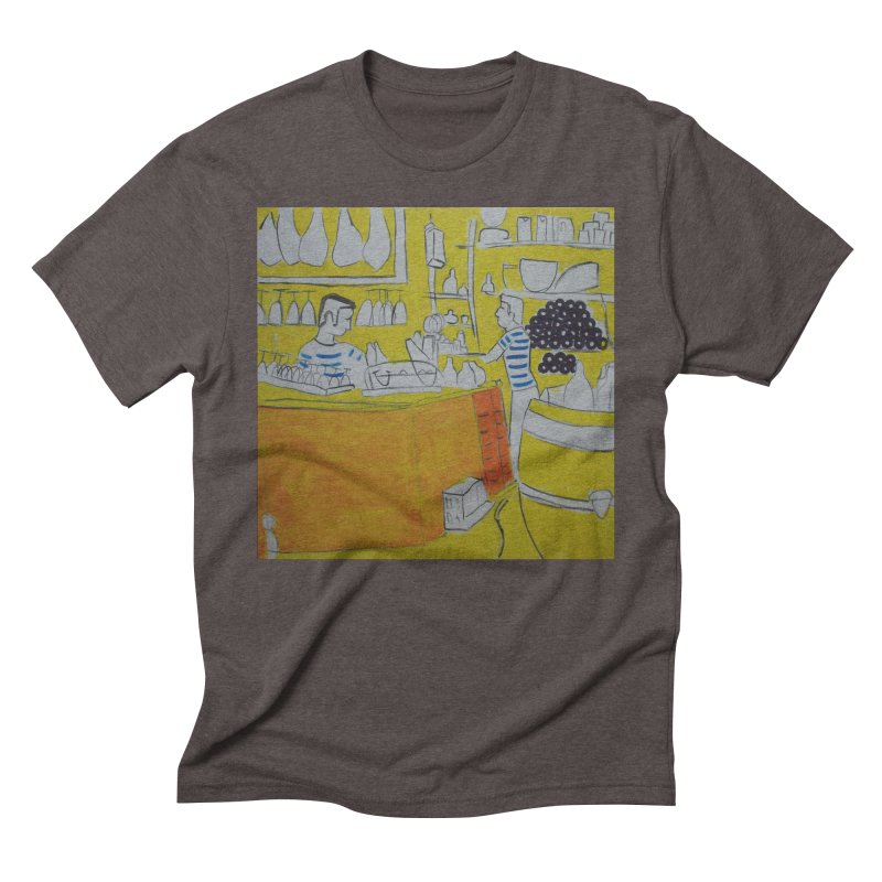 Barcelona Art Men's Triblend T-Shirt by hrbr's Artist Shop