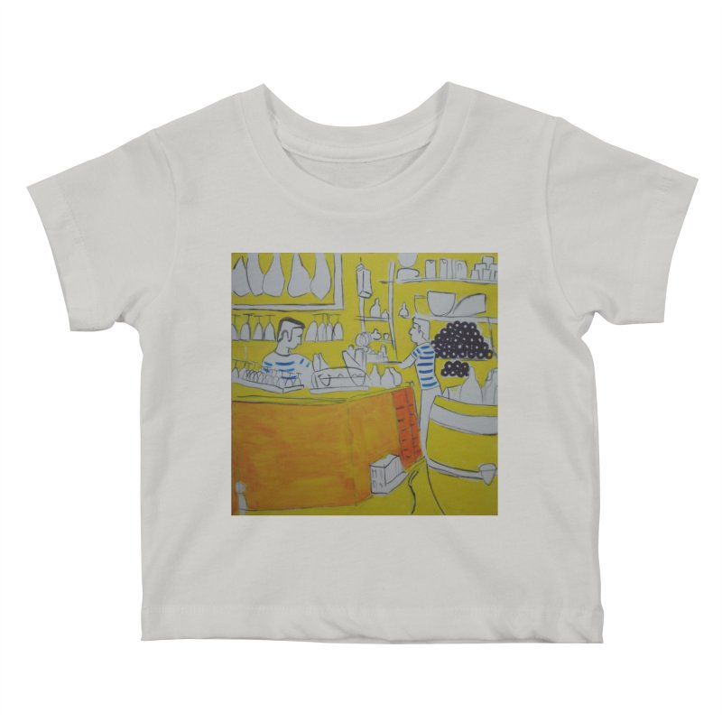Barcelona Art Kids Baby T-Shirt by hrbr's Artist Shop