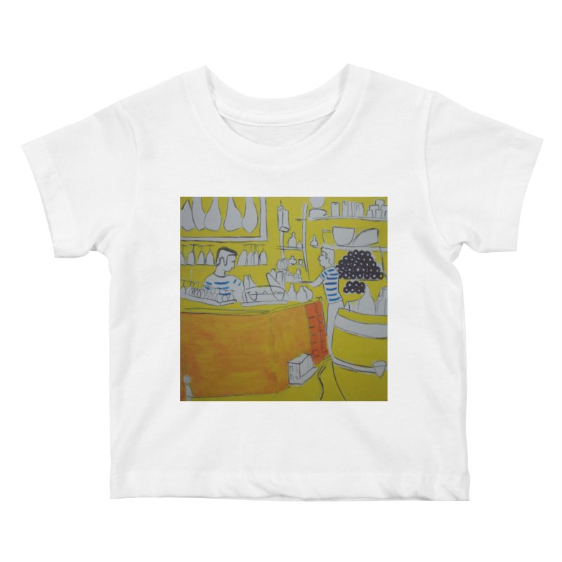 Barcelona Art Kids Baby T-Shirt by hrbr's Artist Shop
