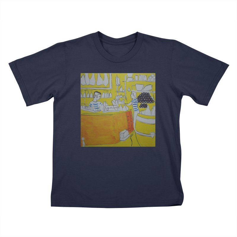 Barcelona Art Kids T-Shirt by hrbr's Artist Shop