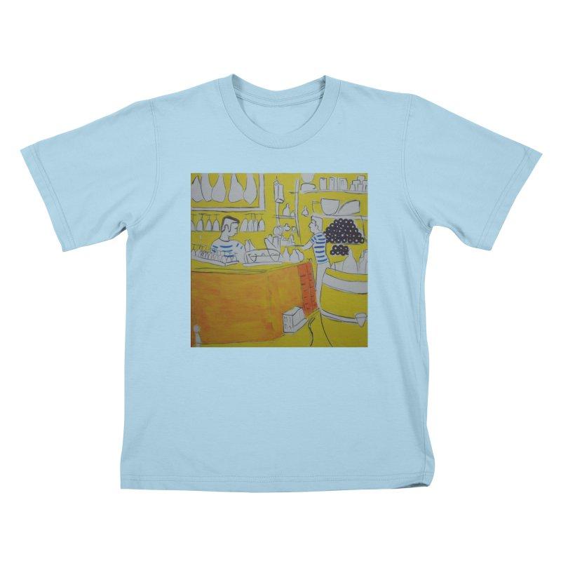 Barcelona Art Kids T-Shirt by hrbr's Artist Shop