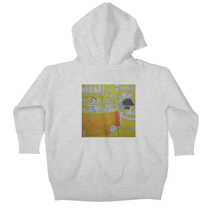 Barcelona Art Kids Baby Zip-Up Hoody by hrbr's Artist Shop
