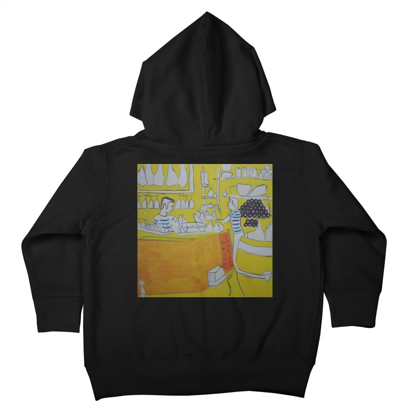 Barcelona Art Kids Toddler Zip-Up Hoody by hrbr's Artist Shop