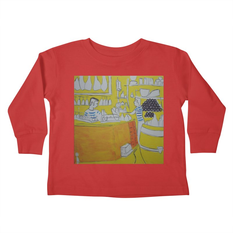 Barcelona Art Kids Toddler Longsleeve T-Shirt by hrbr's Artist Shop
