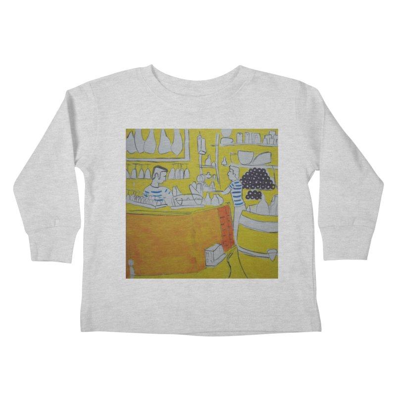 Barcelona Art Kids Toddler Longsleeve T-Shirt by hrbr's Artist Shop
