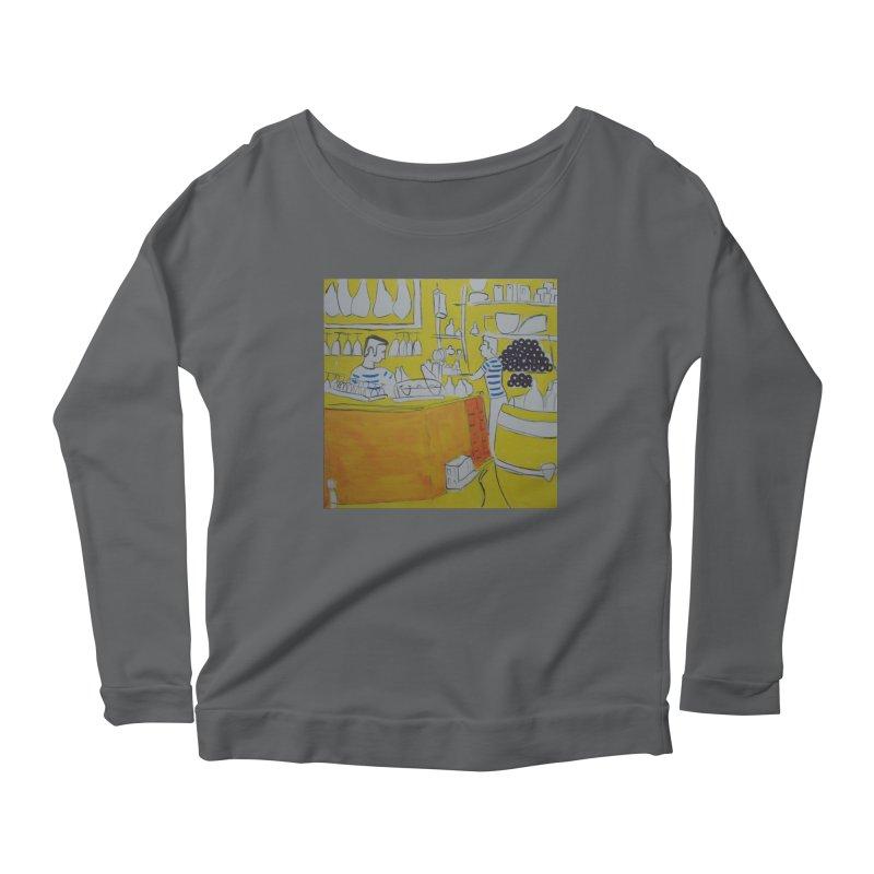 Barcelona Art Women's Scoop Neck Longsleeve T-Shirt by hrbr's Artist Shop