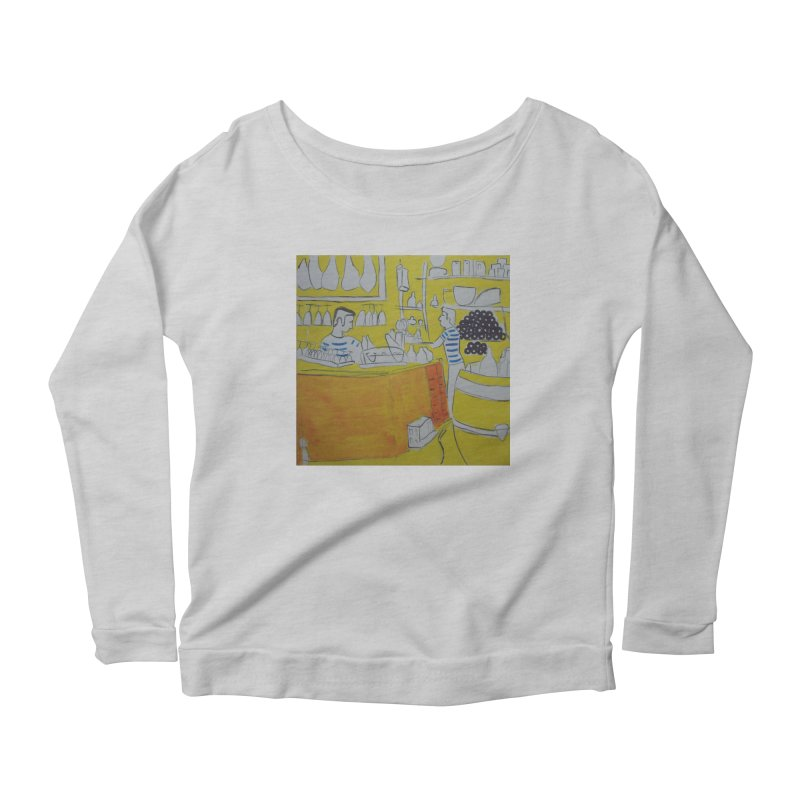 Barcelona Art Women's Scoop Neck Longsleeve T-Shirt by hrbr's Artist Shop