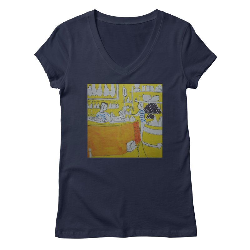 Barcelona Art Women's V-Neck by hrbr's Artist Shop